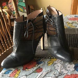 SJP Grey Ankle Booties